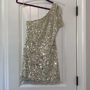 Arden B One Shoulder Sequins Dress